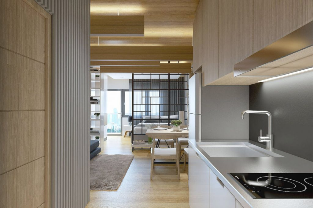 a1BR with Balcony Kitchen - Mint Residences