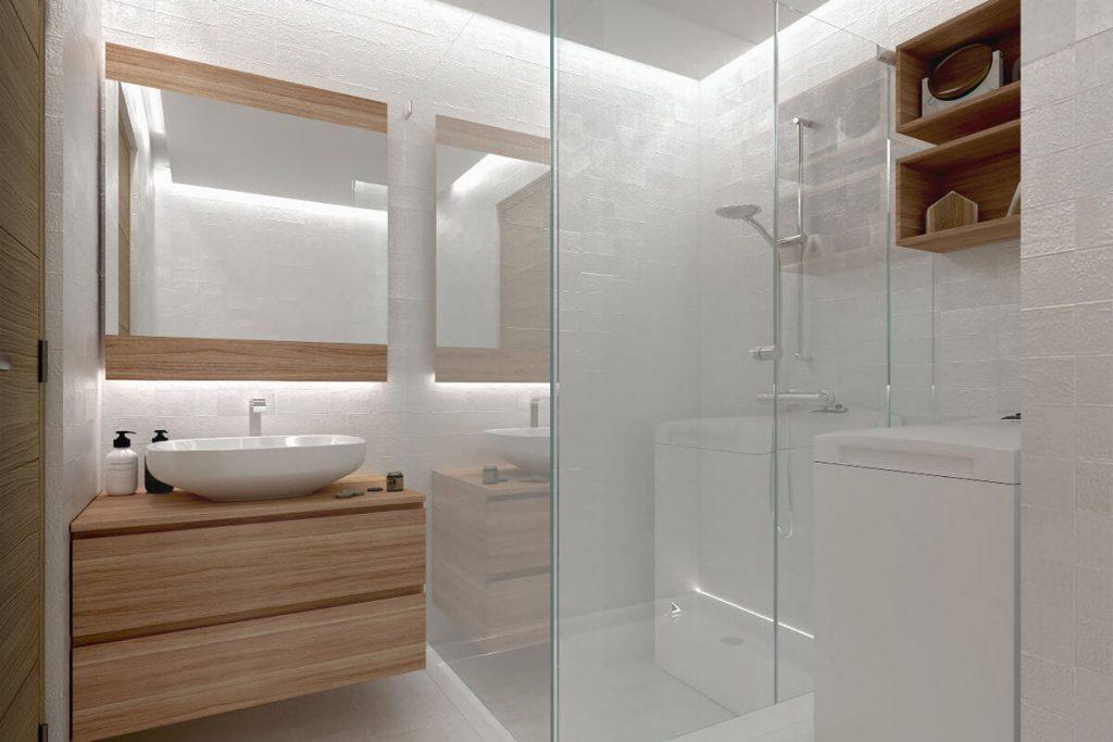 1BR end unit with Balcony Bathroom- Mint Residences