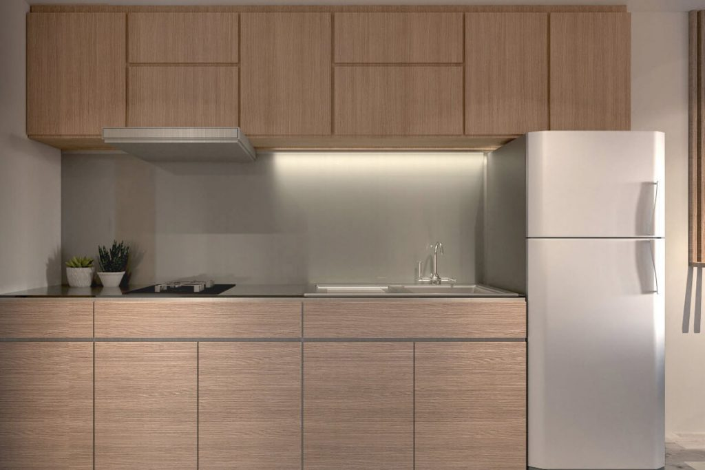 1BR end unit with Balcony Kitchen - Mint Residences