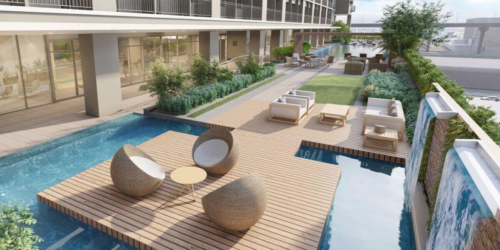 Island Lounge Deck - Mint Residences