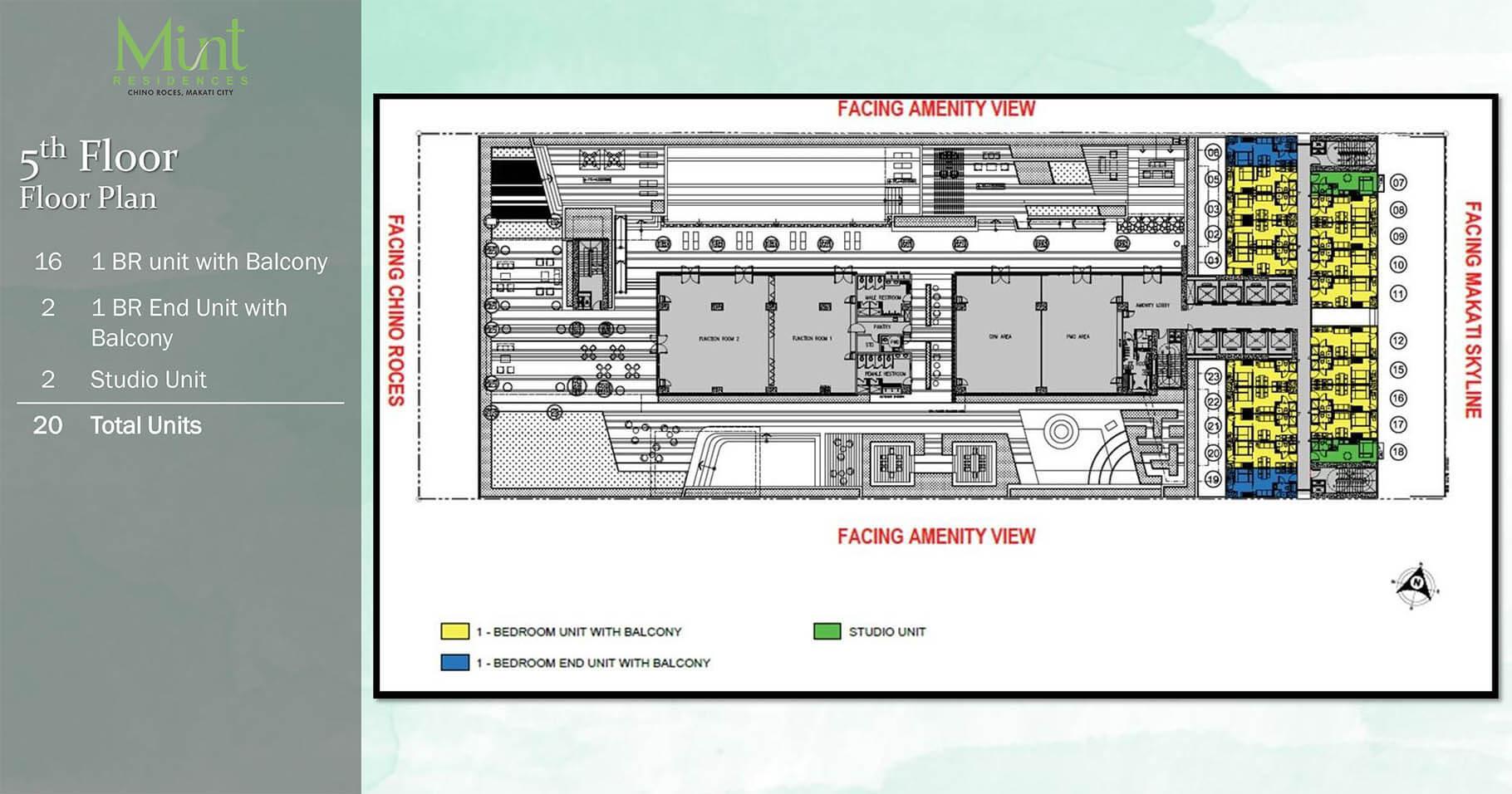 Mint Residences 5th Floor plan