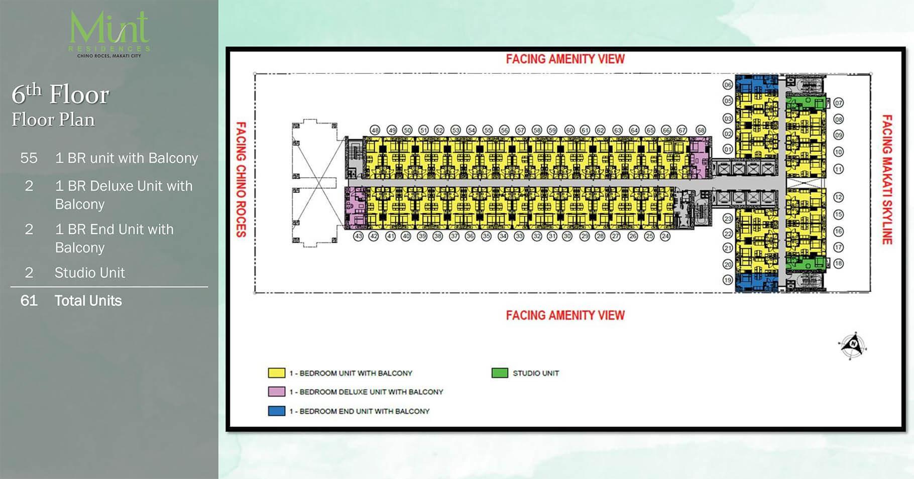 Mint Residences 6th Floor plan