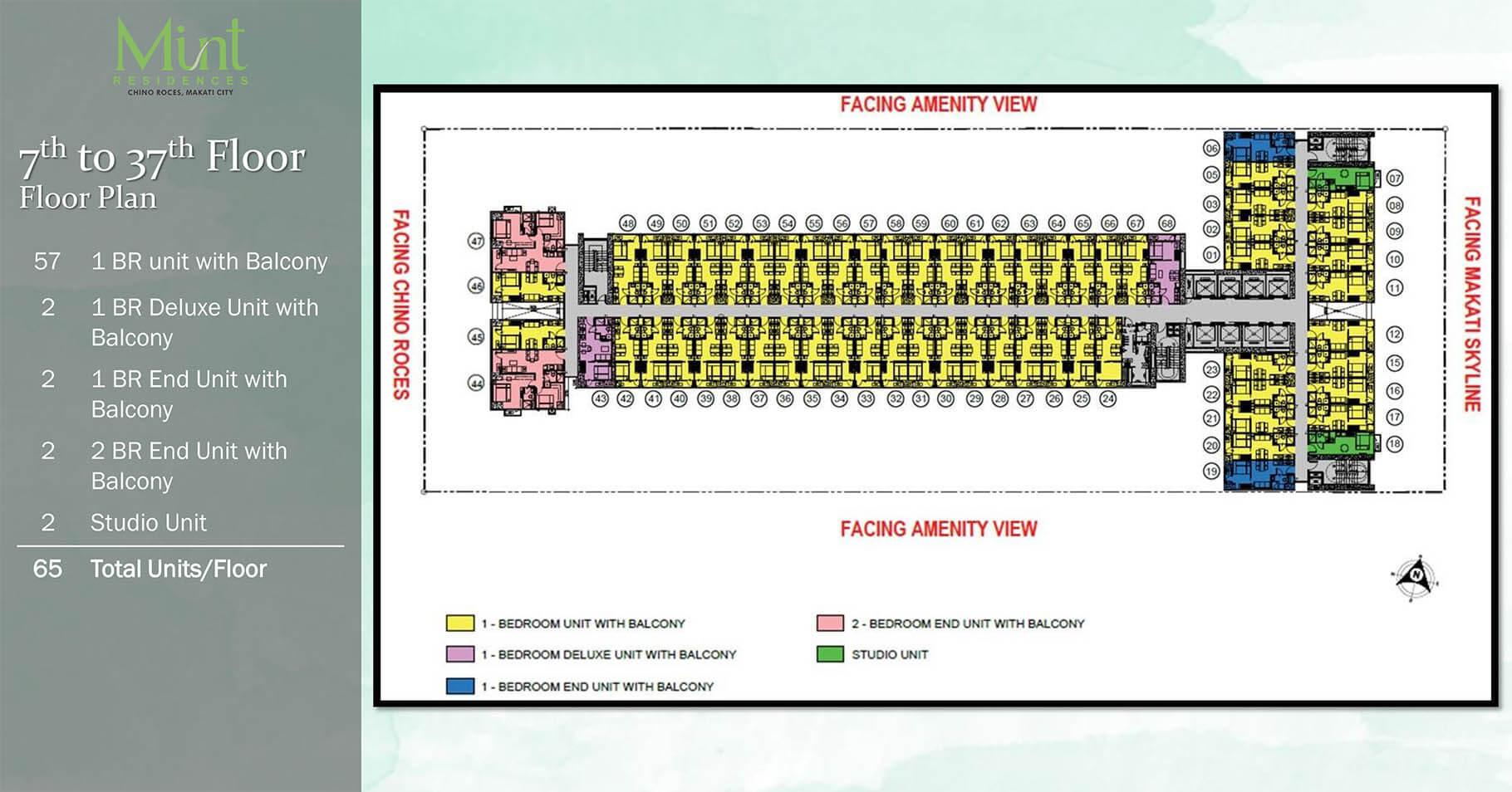 Mint Residences 7th-37th Floor plan